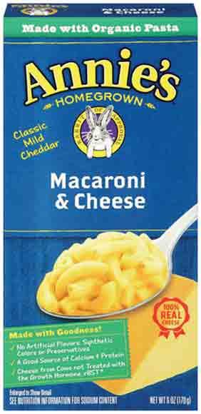 Annie's Shells or Macaroni & Cheese