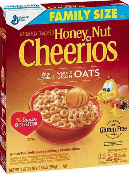 Honey Nut Cheerios or Lucky Charms Family Size Cereals