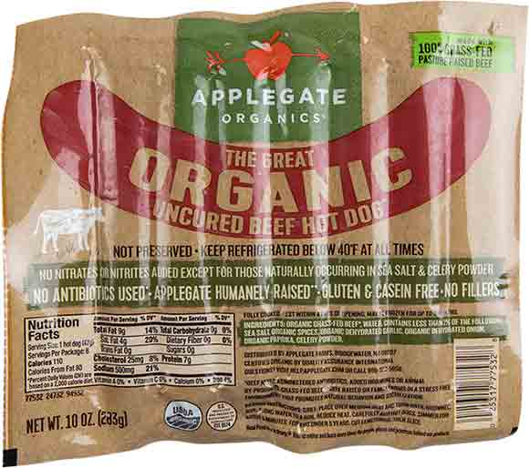 Applegate Farms Organic Hot Dogs
