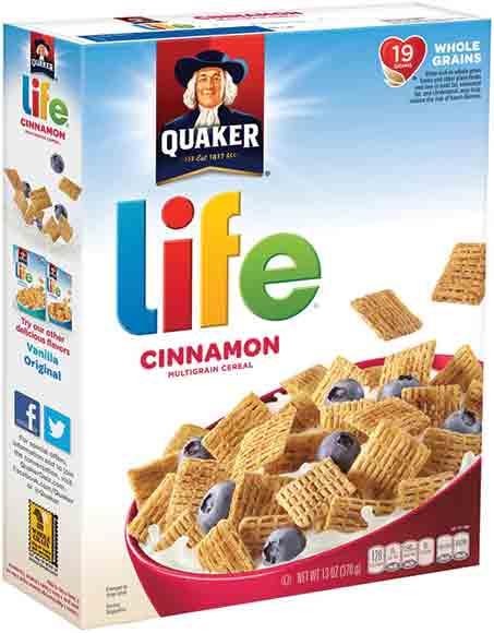 Quaker Strawberry Life Cereal