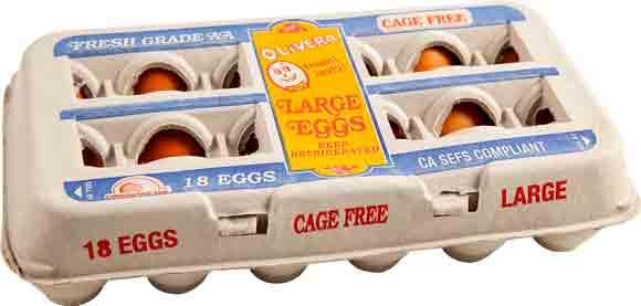 Olivera Large AA Cage-Free Eggs