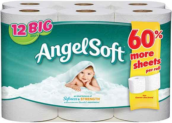 Angel Soft 12 Double Roll Bath Tissue