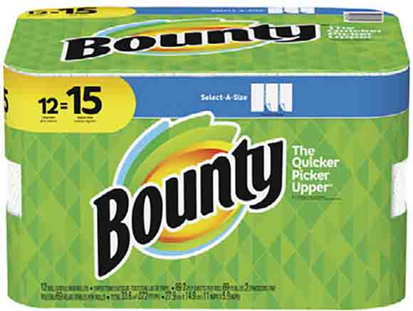 "Bounty 12 Big Rolls ""Select-A-Size"" Paper Towels"