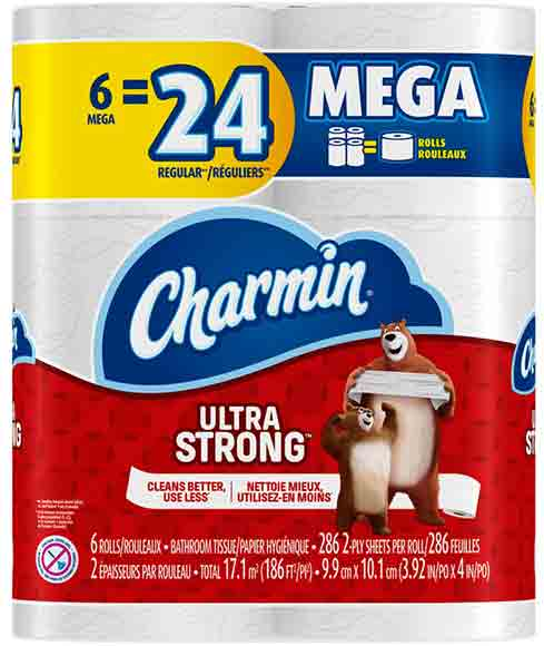 Charmin Ultra Soft Toilet Paper 6 Mega Roll