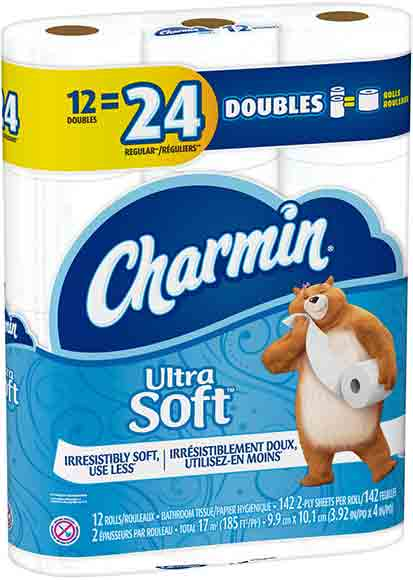 Charmin Ultra Soft 12 Double Roll Bath Tissue