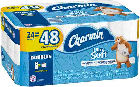 Charmin 24–Roll Bath Tissue