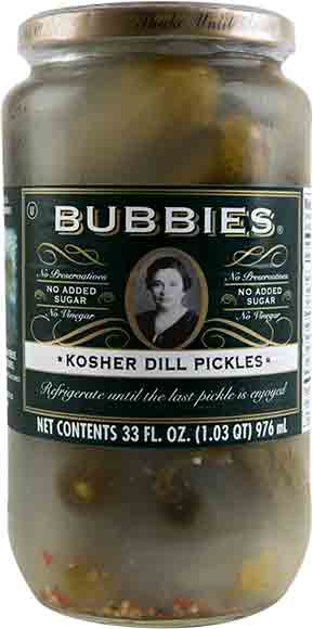 Bubbies Pickles or Sauerkraut