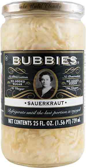 Bubbies Pickles or Sauerkraut