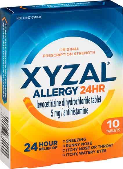Xyzal, Allegra or Nasacort Medicine