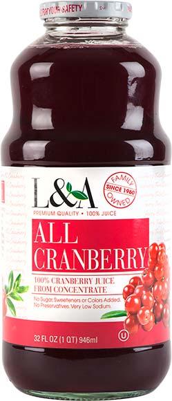 L&A All Cranberry Juice