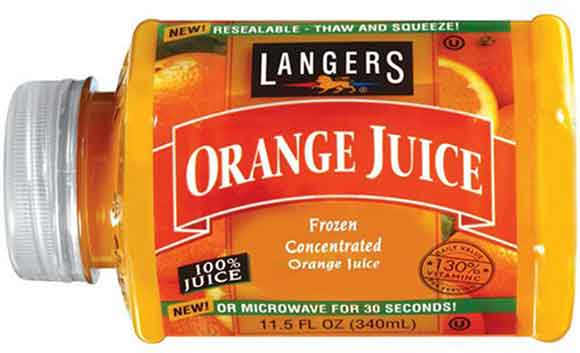 Langers Concentrated Apple or Orange Juice