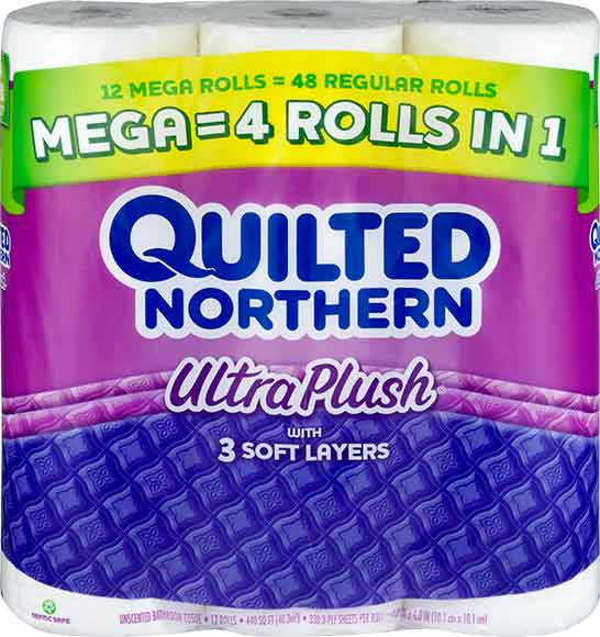 Quilted Northern 12 Mega Roll Bath Tissue