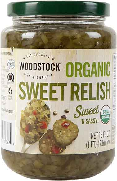 Woodstock Organic Relish, Pickles or Sauerkraut