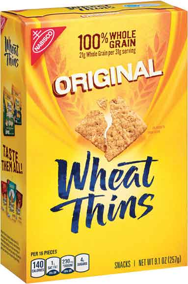 Nabisco Cracked Pepper And Olive Oil Wheat Thins C