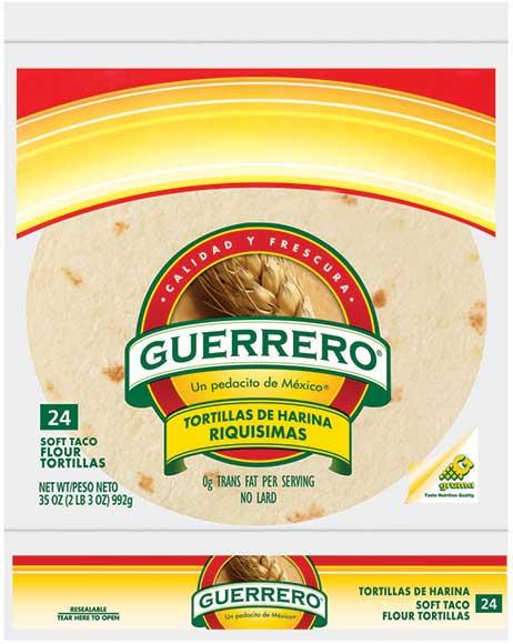 Guerrero Flour Tortillas or White Corn Tortillas