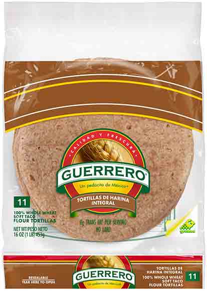 Guerrero Riquisimas or Whole Wheat Tortillas