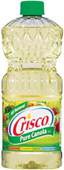 Crisco Canola or Vegetable Oil