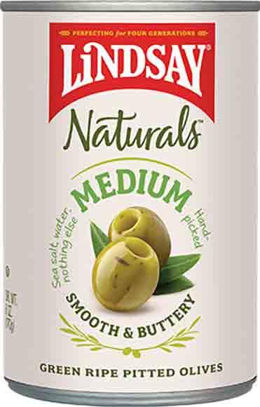 Lindsay Natural Large Green Pitted Olives