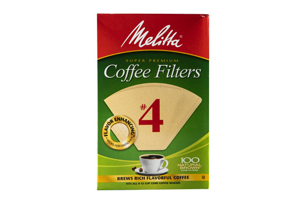 Melitta Cone Filter Brown #4 100 Count