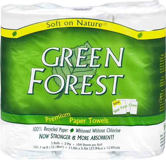 Green Forest Paper Towels
