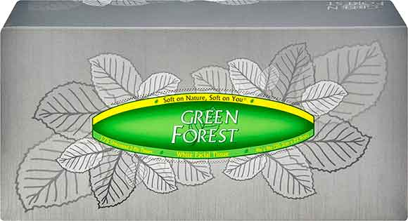 Green Forest Face Tissue
