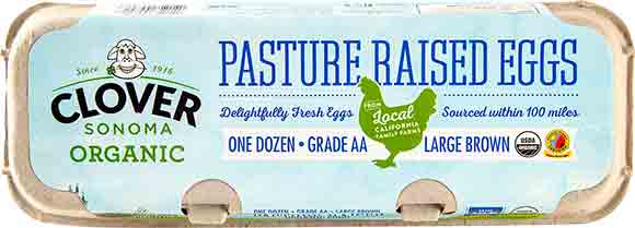 Clover Sonoma Organic Pasture Raised Grade AA Large Brown Eggs