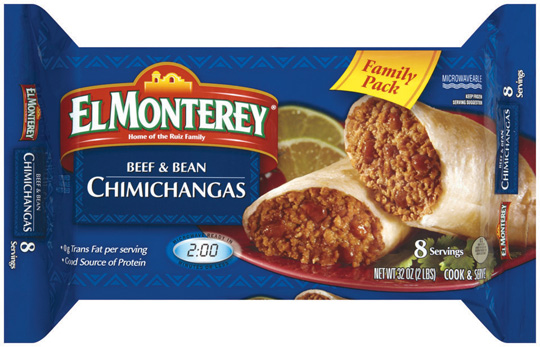 El Monterey Burritos or Chimichangas