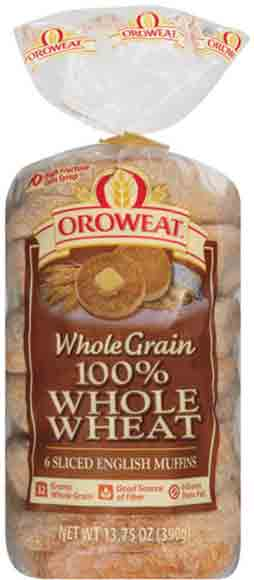 Oroweat 100% Whole Wheat Muffins