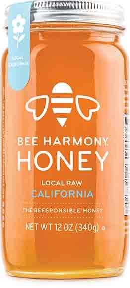 Bee Harmony Local Raw California Honey