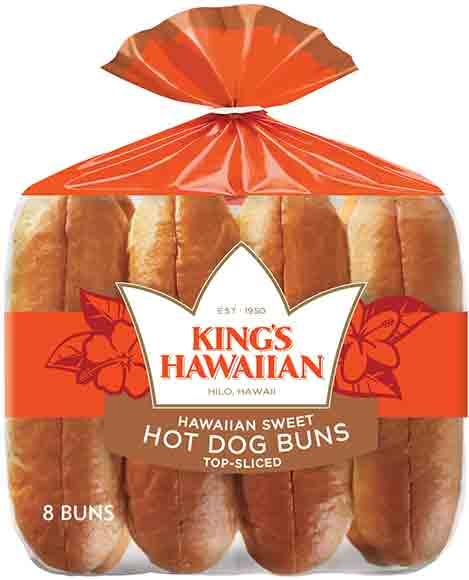 King's Hawaiian Sweet Hot Dog or Hamburger Buns
