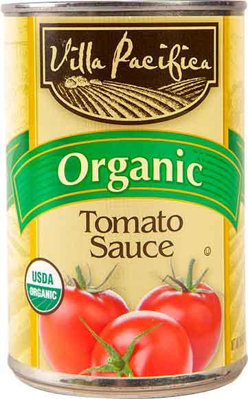 Villa Pacifica Organic Tomato Sauce or Diced Tomatoes
