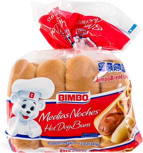 Bimbo Hot Dog Buns