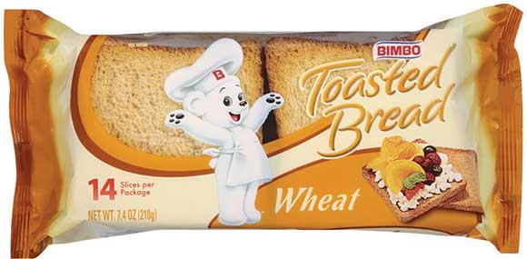 Bimbo Bread or Toasted Bread