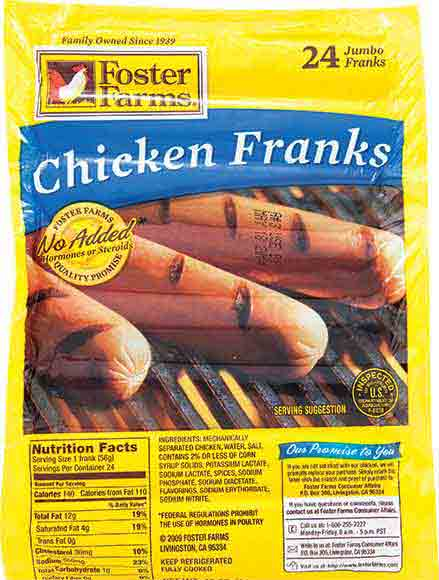 Foster Farms Chicken or Turkey Franks