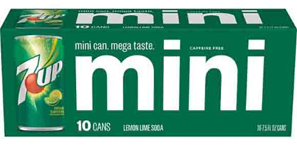 7-Up or Canada Dry 10-Packs