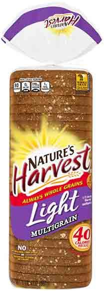 Nature's Harvest 40 Calorie Multigrain Bread