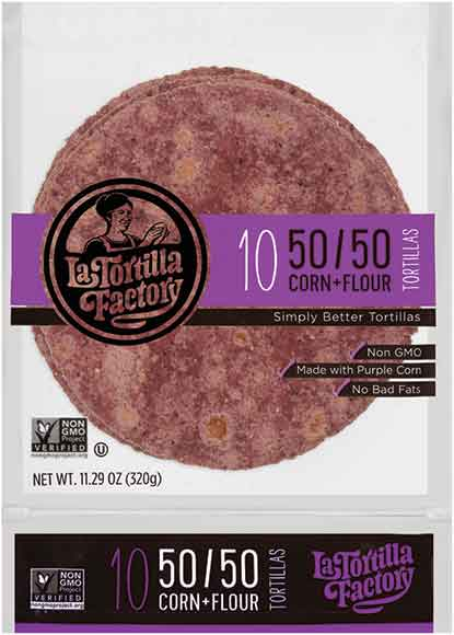 La Tortilla Factory 50/50 Tortillas