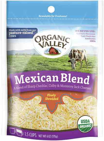 Organic Valley Organic Shredded Cheese