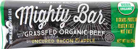 Mighty Organics Uncured Bacon/apple Meat Bar