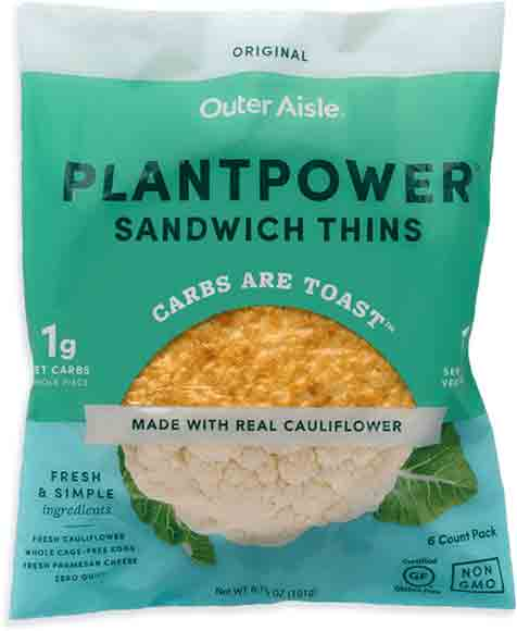 Outer Aisle Gourmet Cauliflower Pizza Crusts or Sandwich Thins
