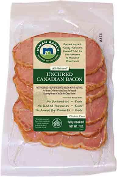 Niman Ranch Uncured Canadian Bacon