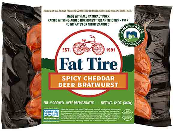 Niman Ranch Fat Tire Bratwurst