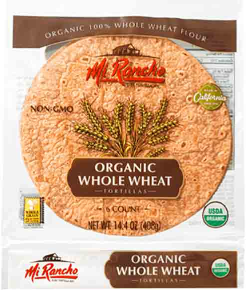 Mi Rancho Organic Whole Wheat Flour Tortillas
