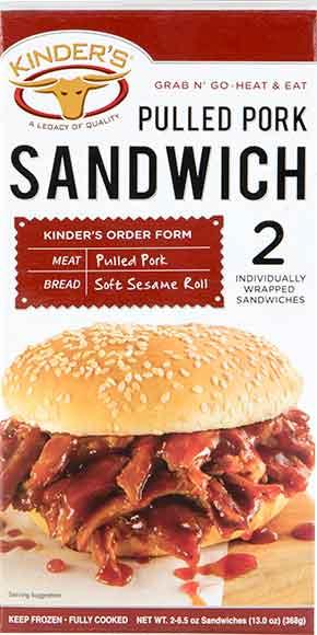 Kinder's Sandwiches