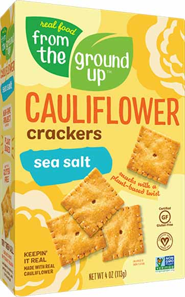 From the Ground Up Cauliflower Crackers