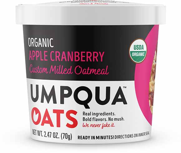 Umpqua Organic Oatmeal Cups