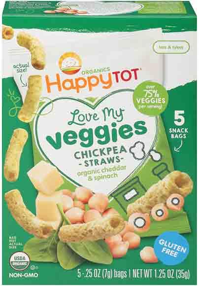 Happy Baby Chickpea Straws