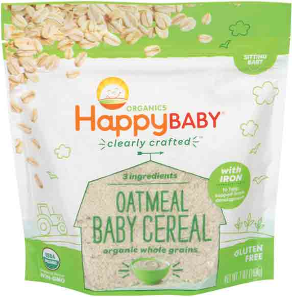 Happy Baby Organic Oatmeal Cereals