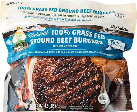 SunFed Ranch Grass-Fed Beef Patties