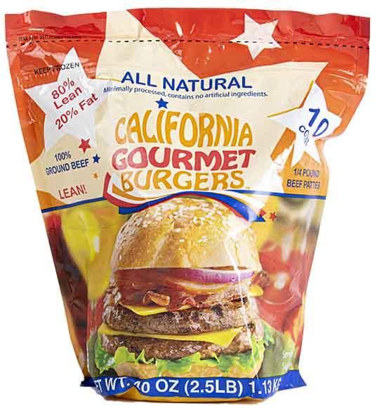 California Gourmet 80/20 1/4 Lb All Beef Patties